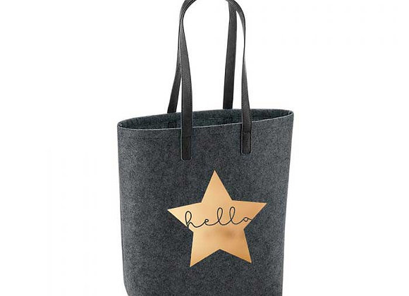 Hello Star Felt Tote Bag