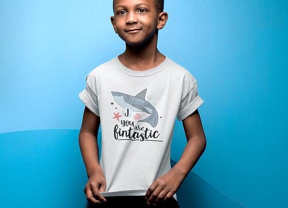 Fintastic Shark Initial Boys T-shirt