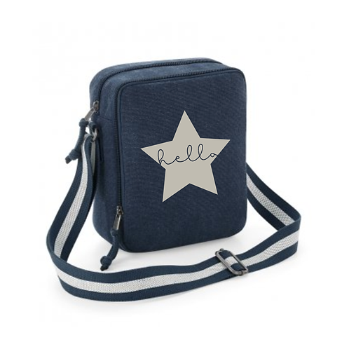 Hello Star Denim Messenger Bag
