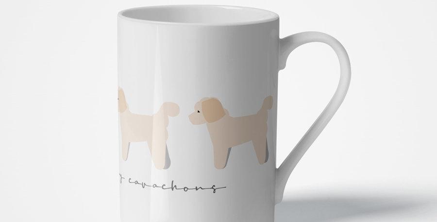 Trio Porcelain Mug - Cuddly Cavachons