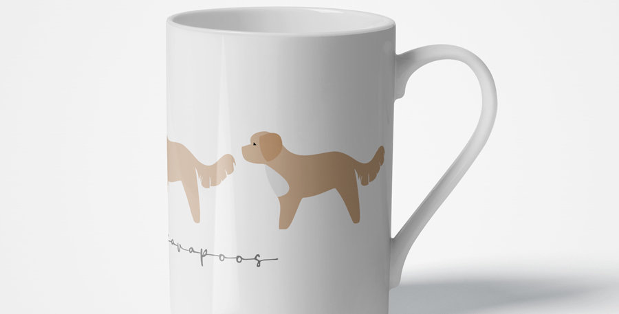 Trio Porcelain Mug - Cute Cavapoos