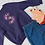 Thumbnail: Navy Kids Camo print Initial Sweatshirt