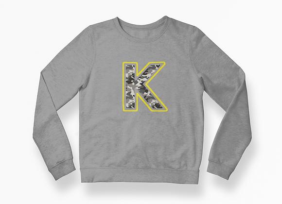 Kids Camo print Initial Sweatshirt