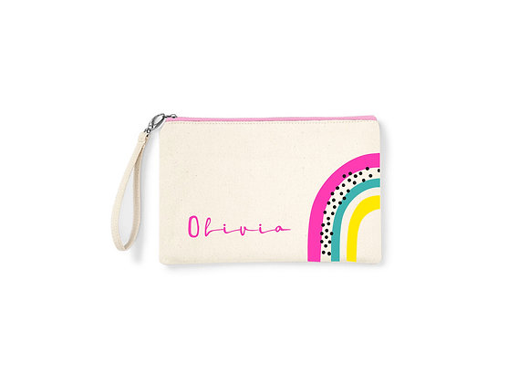 Personalised Rainbow Accessory Bag