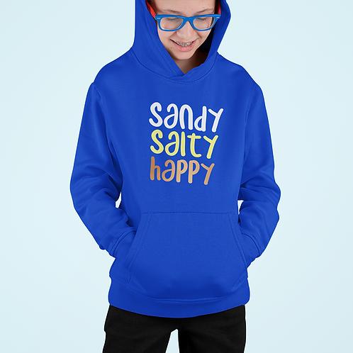 Boys Sandy, Salty, Happy Hoodie