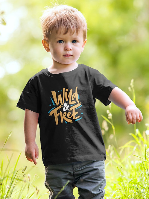Boys Neon Wild & Free T-shirt