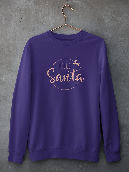 Women's Hello Santa Sweatshirt