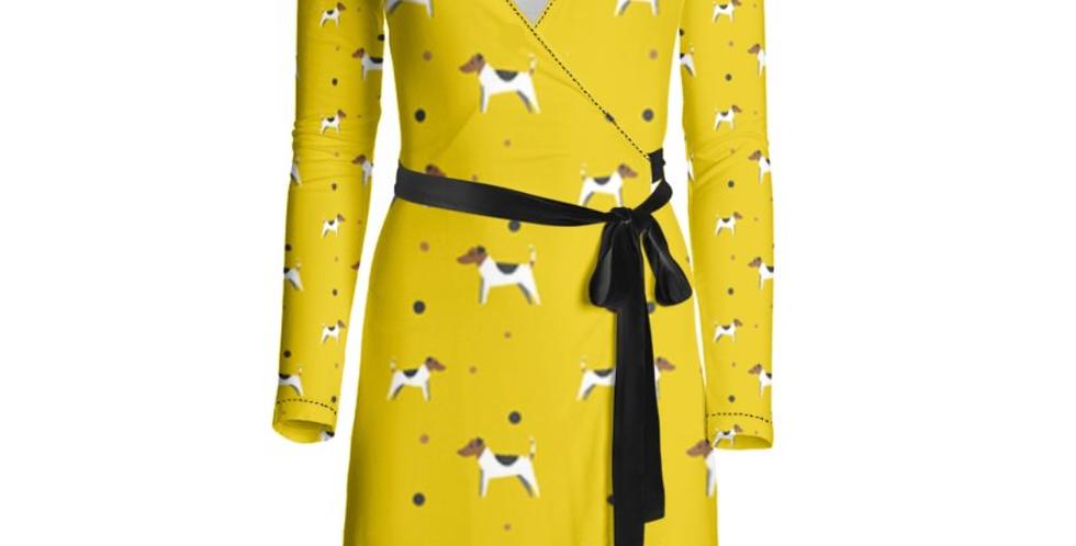 Wrap Dress - Jazzy Jacks Print