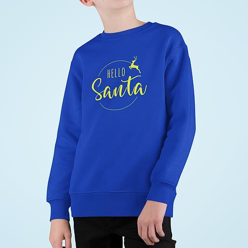 Boys Hello Santa Sweatshirt