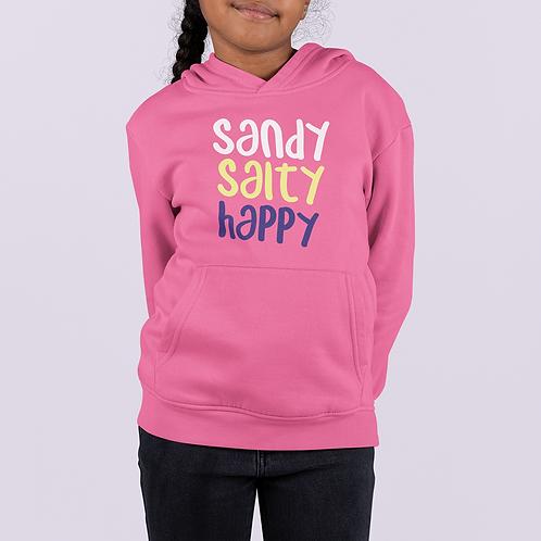Girls Sandy, Salty, Happy Hoodie