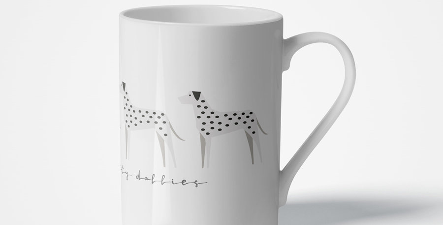 Trio Porcelain Mug - Dotty Dallies
