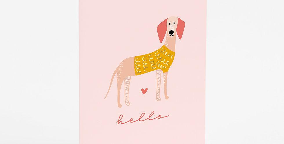 Hello Woof Card