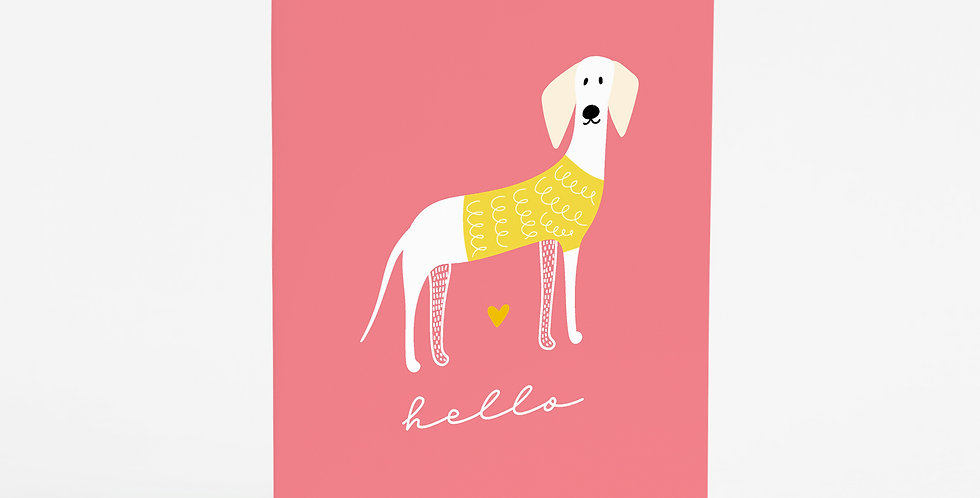 Hello Woof (Bright) Card