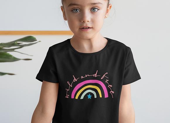 Girls Wild & Free Rainbow T-shirt