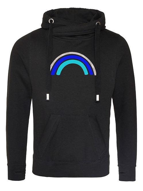 Moonlight Rainbow Cowl Neck Hoodie