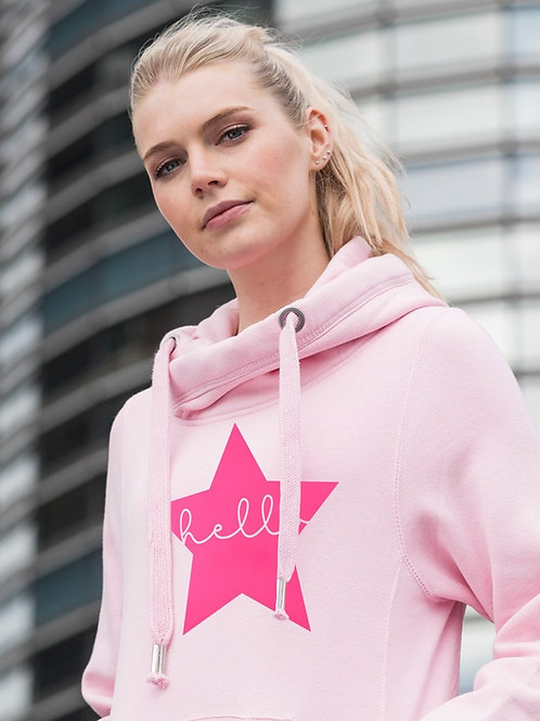 Hello Star Cowl Neck Hoodie