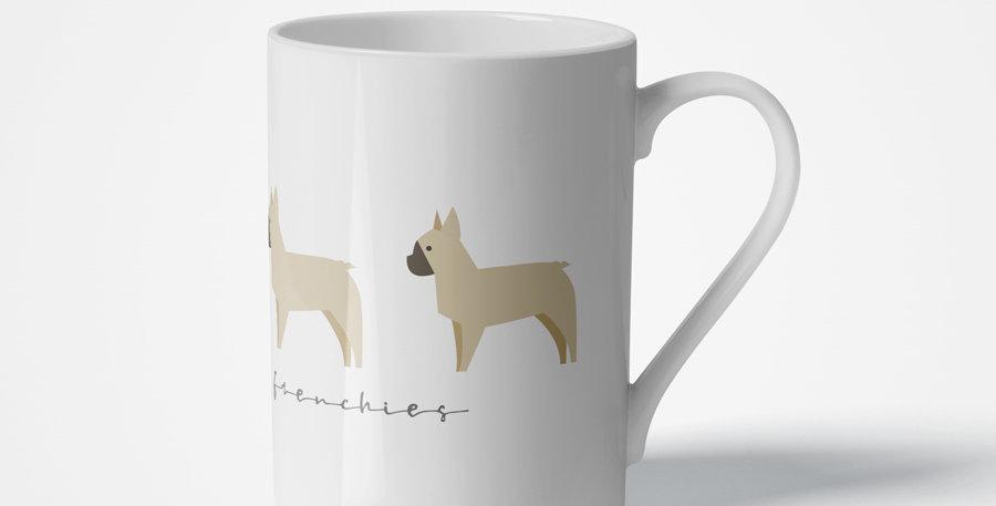 Trio Porcelain Mug - Fancy Frenchies