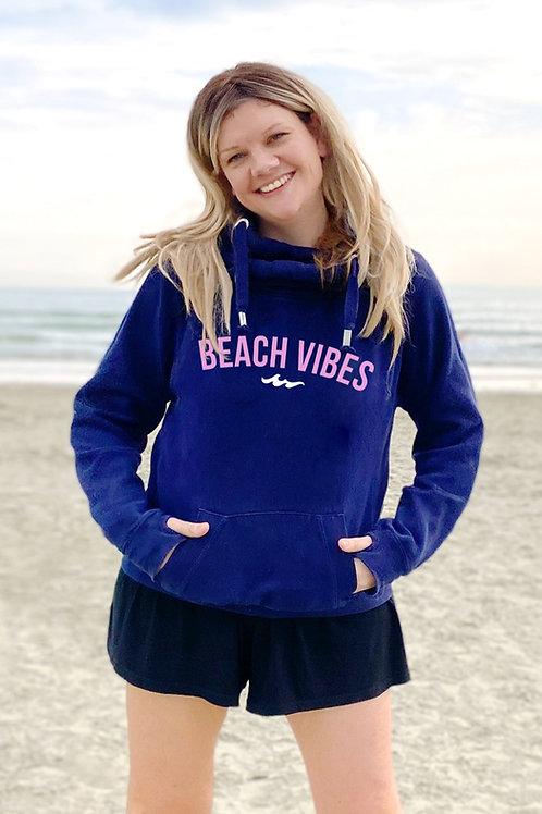 Beach Vibes Cowl Neck Hoodie - Customise me