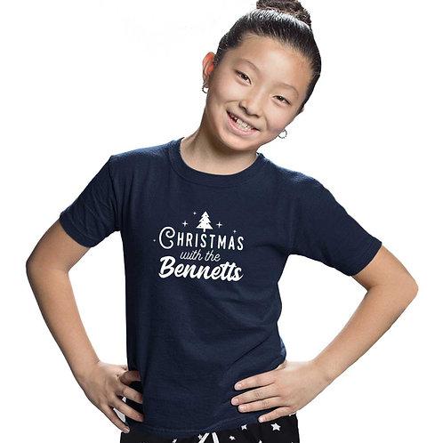 Kids Family Christmas Navy Star PJs