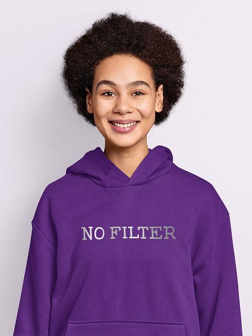 No Filter Slogan Hoodie