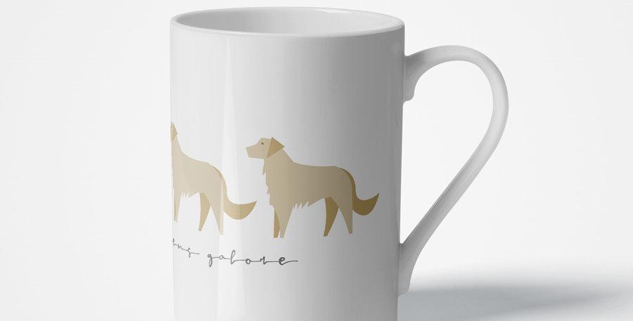 Trio Porcelain Mug - Goldens Galore