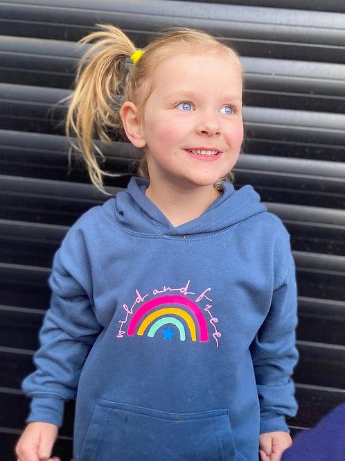Girls Wild & Free Rainbow Hoodie