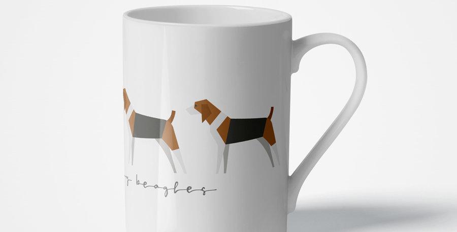 Trio Porcelain Mug - Busy Beagles