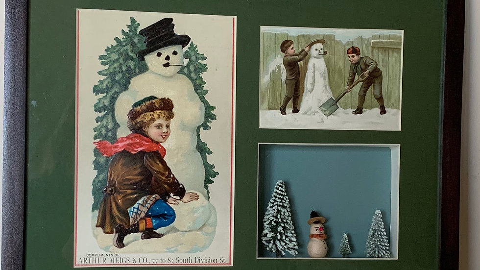 Snowman Tradecards.