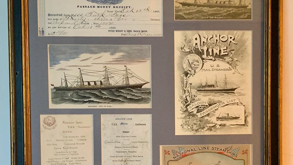 Steamship Menus.