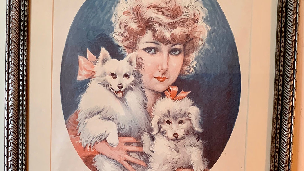 Woman with Dogs.