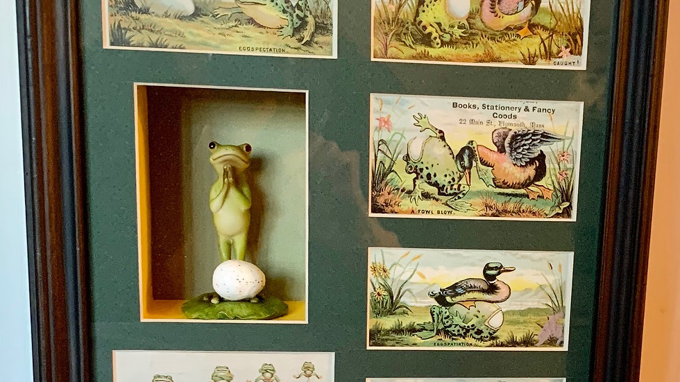 Victorian frog trade cards