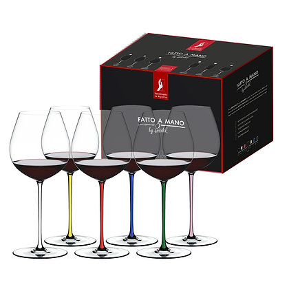 Riedel Fatto A Mano Old World Pinot Noir Gift Set (Set of 6)