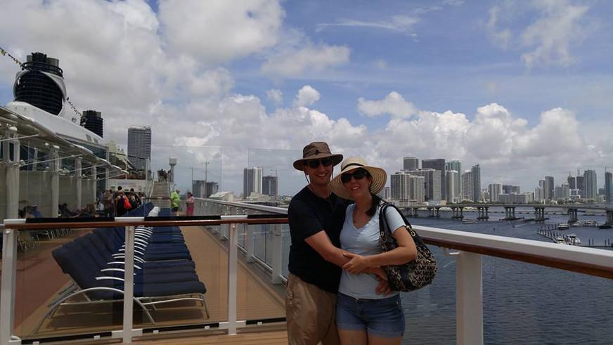 Enjoying our Caribbean cruise