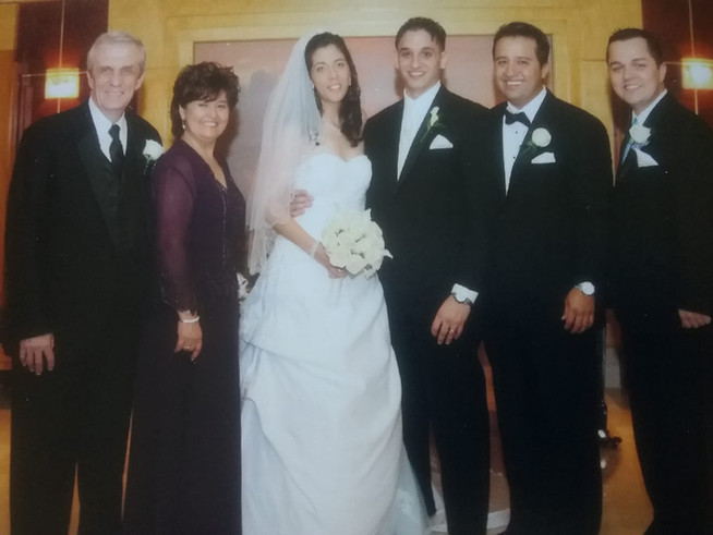 At our wedding with Anna's parents and brothers