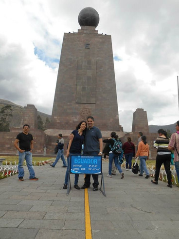 Visiting the middle of the world in Quito, Ecuador