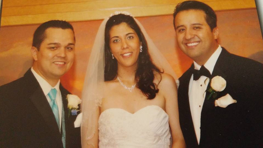 Anna with her brothers at our wedding