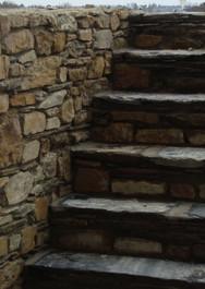 escalier pierres
