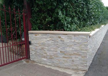 muret pierres de parement