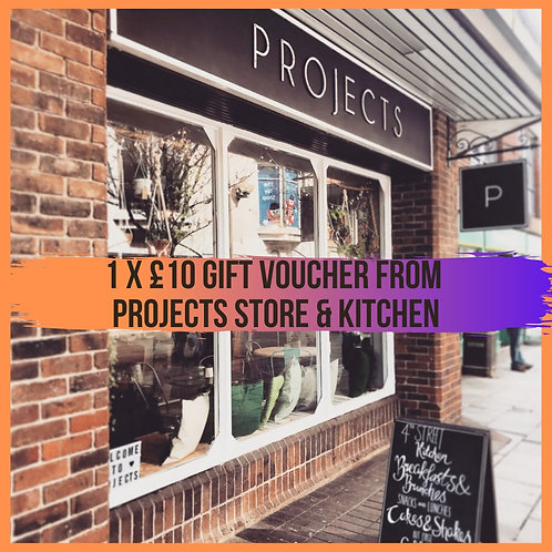 £10 giftcard to spend at Projects Store and Kitchen