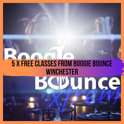 5 Free classes from Boogie Bounce Winchester