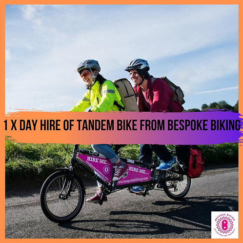 One day Tandem Bike hire from Bespoke Biking