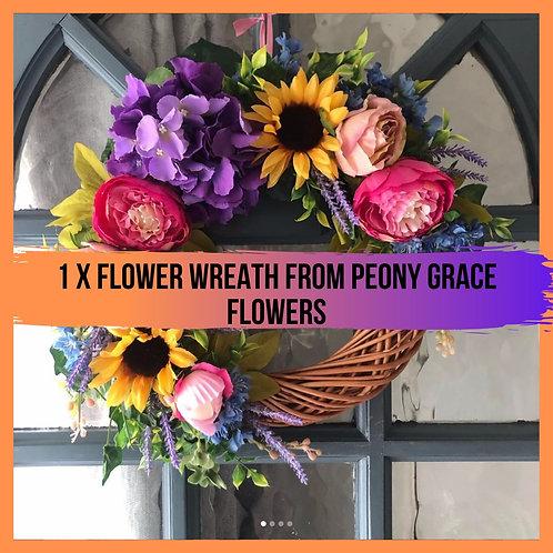 1 Flower Wreath from Peony Grace Flowers