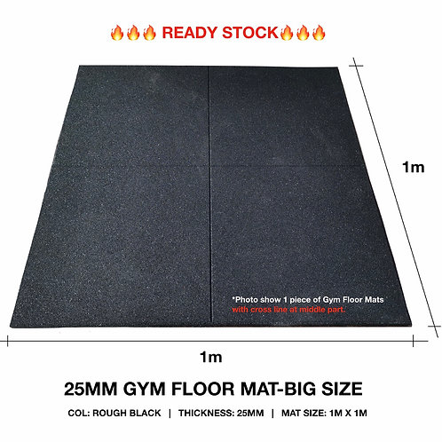 BIG SIZE 25MM GYM FLOOR MAT/ MAT SIZE: 1M x 1M/ GYMFIT SQ/ SUITABLE FOR GYM ROOM