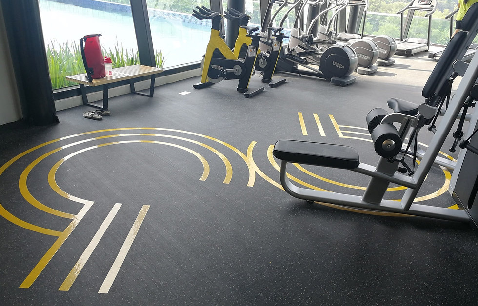 6mm Rubber Flooring with 15%EPDM