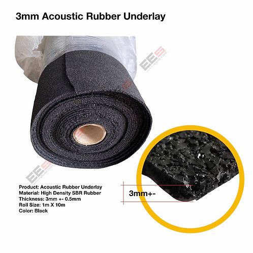 3MM/5MM ACOUSTIC RUBBER UNDERLAY/ SOUNDPROOF
