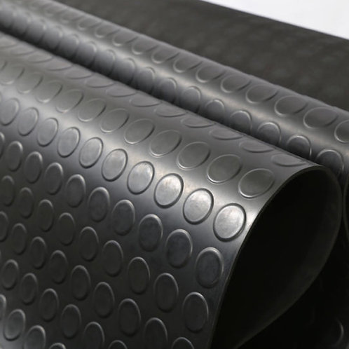4.5MM ROUND STUD RUBBER MAT/ THICKNESS: 4.5MM/ WIDTH: 1.2M/ ORDER BY METER