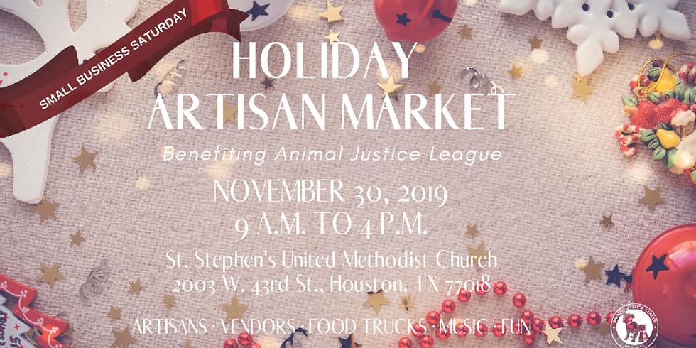 Animal Justice League Holiday Artisan Market