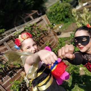 Queen Bee and her ladybug sidekick