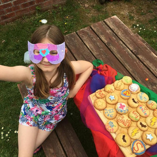 Butterfly Superhero and her cookies