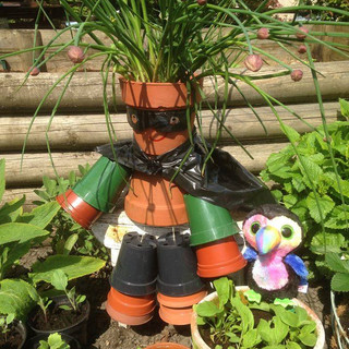 Superhero in the Garden
